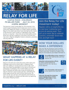 American Cancer Society - Relay for Life @ Philip S. Miller Park