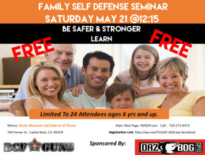 Free Family Self Defense Seminar @ Rocky Mountain Self Defense and Fitness