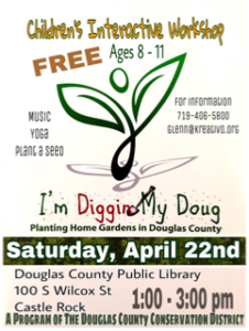 Plant-A-Seed Workshop for Kids Celebrating Earth Day @ Douglas County Libraries