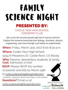 Family Science Night @ Castle View High School