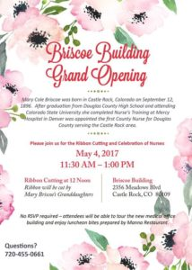 Briscoe Building Grand Opening and Ribbon Cutting Ceremony @ Briscoe Building at Castle Rock Adventist Hospital Campus
