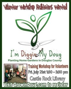 I'm Diggin My Doug Training Workshop for Volunteers @ Castle Rock Library |  |  |