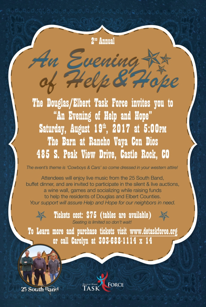 An Evening of Help & Hope (2nd Annual) @ The Barn at Rancho Vaya Con Dios