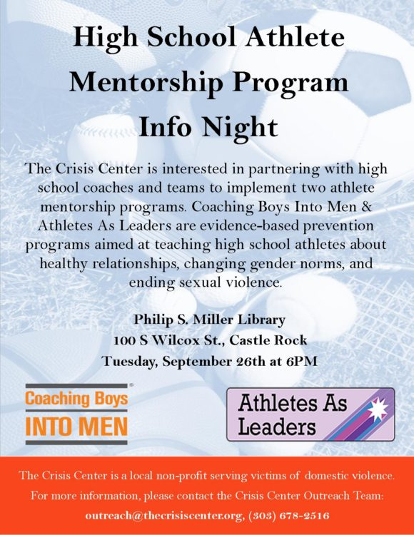 High School Athlete Mentorship Program – Info Night @ Philip S. Miller Library