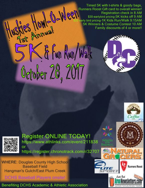Huskies Howl-O-Ween 5K & Fun Run/Walk @ Douglas County Baseball Field