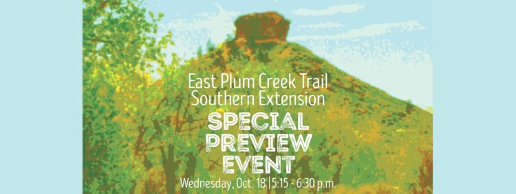 East Plum Creek Trail Southern Extension Special Preview Event @ Plum Creek Trail