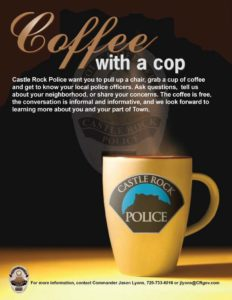 Coffee with a Cop @ Einstein Bros. Bagels |  |  |
