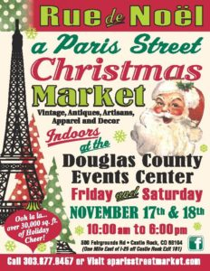Rue de Noel, A Paris Street Christmas Market @ Douglas County Fairgrounds and Events Center |  |  |