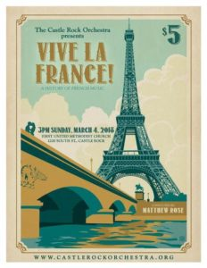Castle Rock Orchestra - Vive La France! @ First United Methodist Church