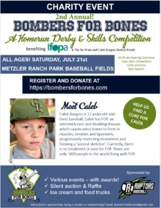 2nd Annual Bombers for Bones @ Metzler's Ranch Park Baseball Fields