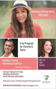 Making College More Affordable Class for Parents and Teens @ Parker Library
