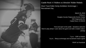 Roller Derby Exhibition Scrimmage and Recruitment Day @ Douglas County Fairgrounds Event Center