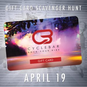 Gift Card Scavenger Hunt @ CycleBar - Castle Pines