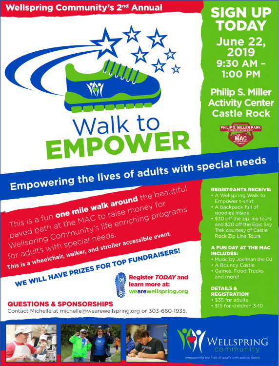 Wellspring Walk to Empower @ Philip S. Miller Activity Center