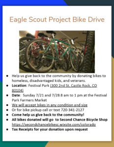 Eagle Scout Project Bike Drive @ Festival Park