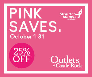 PINK SAVES 25% OFF COUPON @ Outlets at Castle Rock