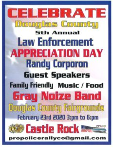 Celebrate Douglas County 5th Annual Law Enforcement Appreciation Day @ Douglas County Fairgrounds - Kirk Hall