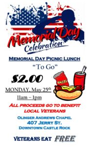 Memorial Day Picnic Lunch @ Olinger Dignity Memorial