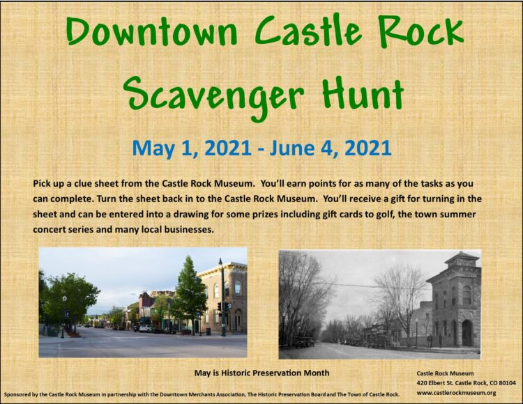 Downtown Scavenger Hunt @ Castle Rock Museum