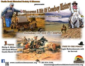 Castle Rock Historical Society and Museum's Monthly Presentation @ Philip S. Miller Library         